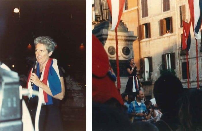 Bicentenario della Rivoluzione Francese - Giovanna Marini in Piazza Campo de' fiori/Navona - 1989