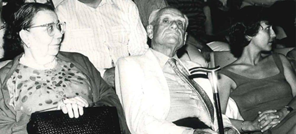 Adriana Panni e Alberto Moravia spettatori del Festival nel 1988