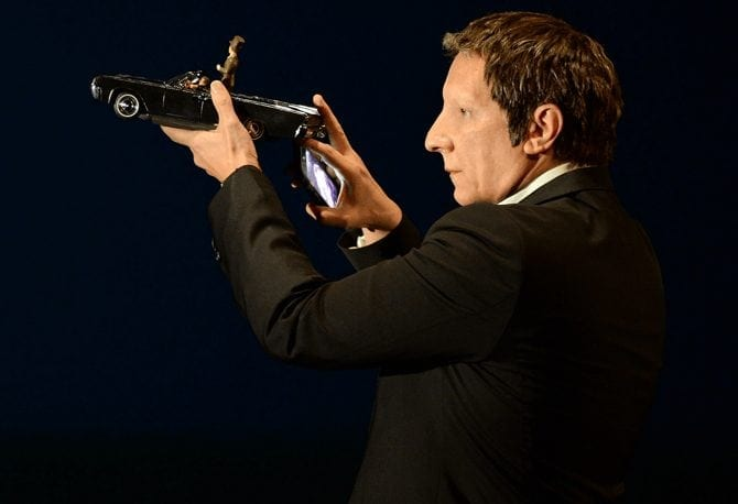 "Robert Lepage <br> presenta alla stampa ""887"""